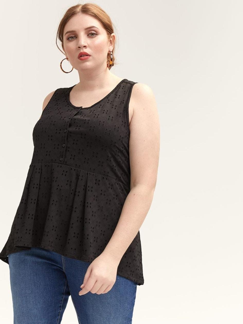 1350092a Women Plus Size Tops, Blouses & Shirts Online | Addition Elle