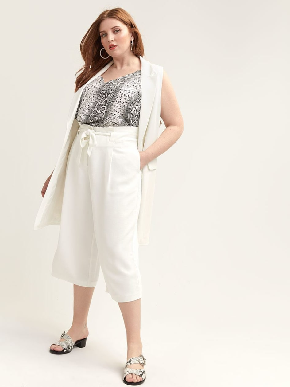 3e5a3757c9c Gaucho Pant with Self-Belt