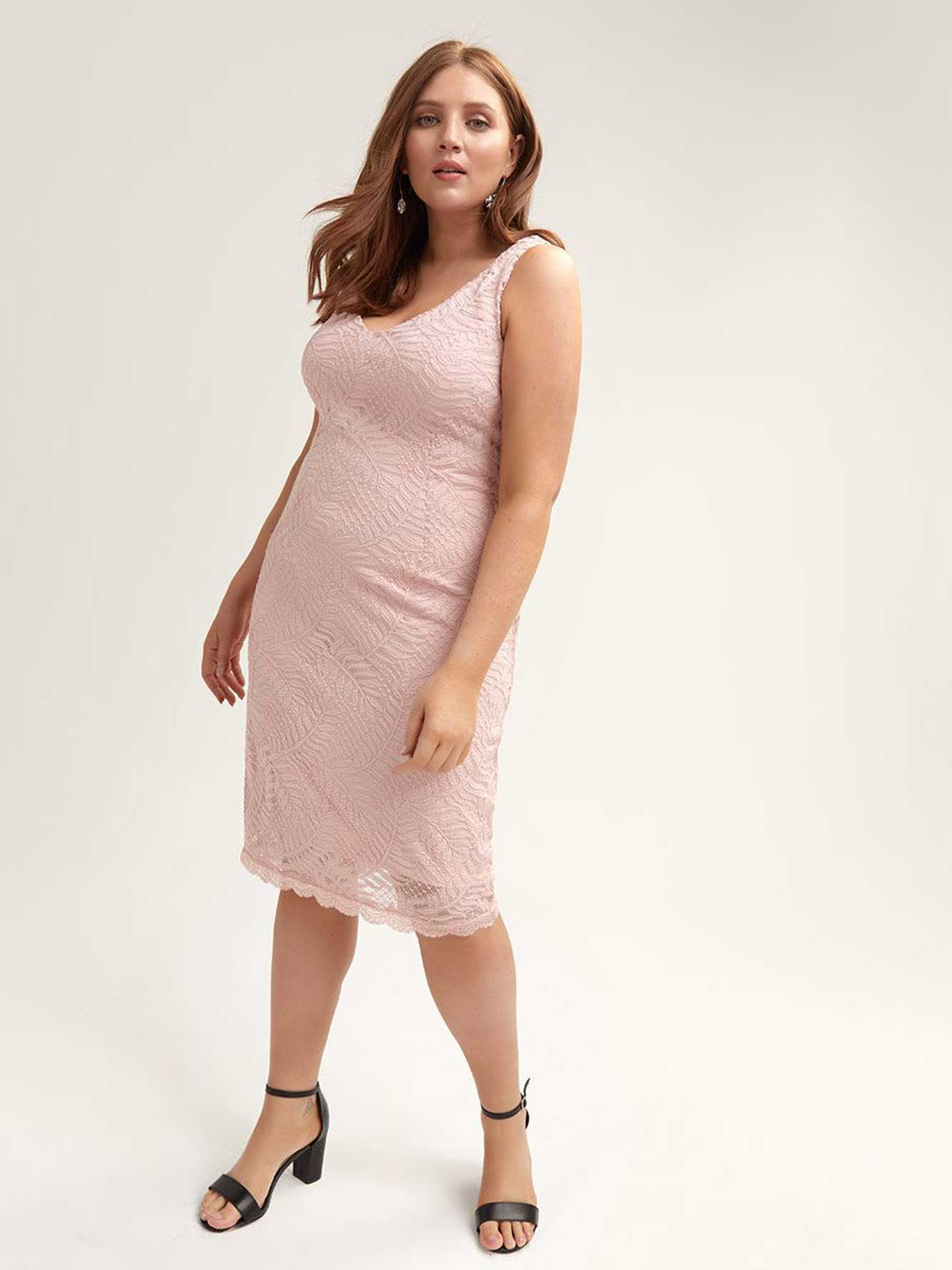 Pink Lace Dress by Addition Elle