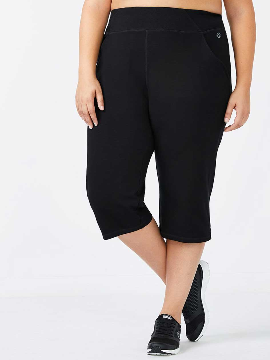 ee81f08a654 Basic Relaxed Plus-Size Capri
