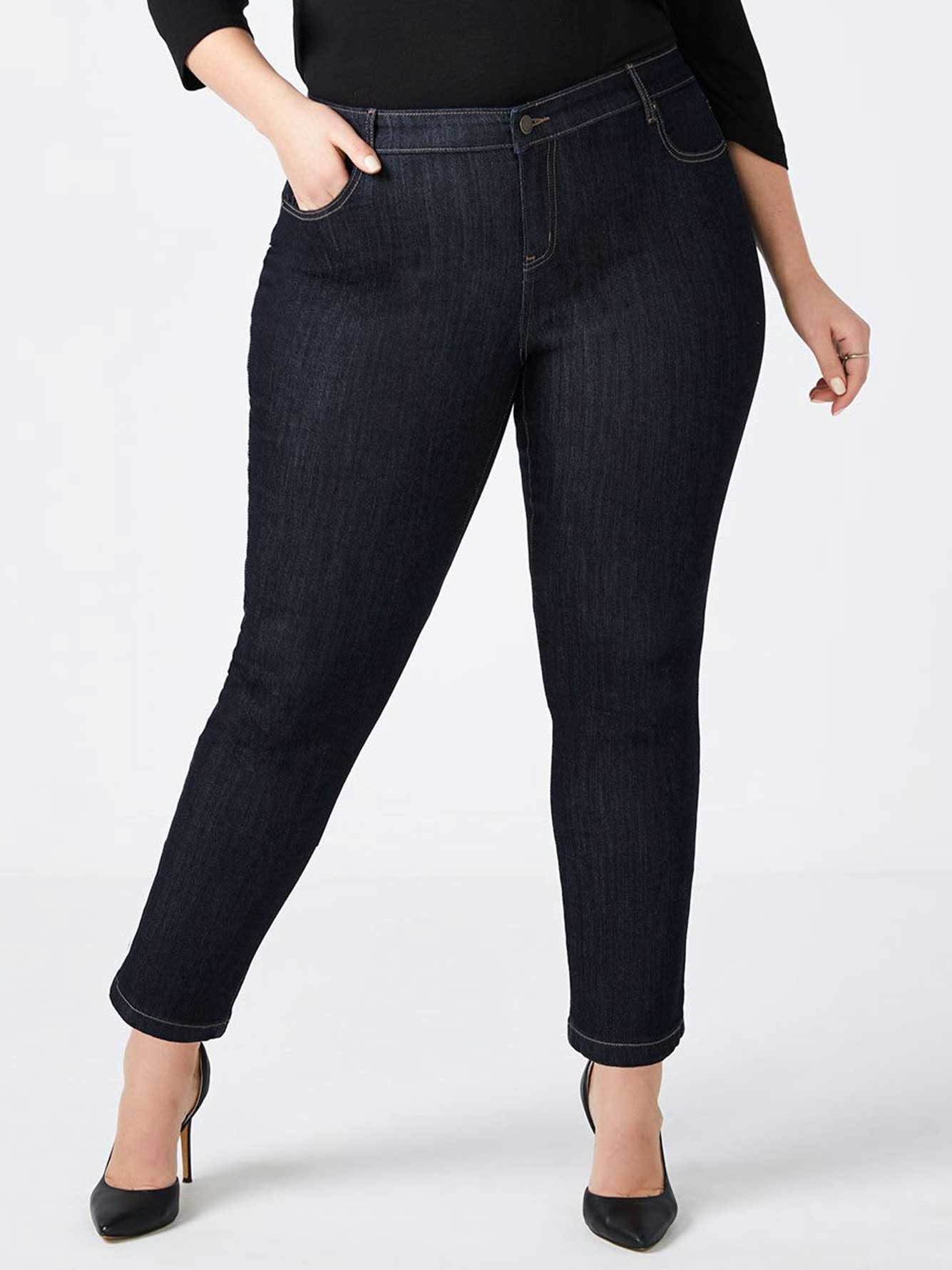 535c4e92755 Petite Slightly Curvy Fit Straight Leg Jean - d c JEANS