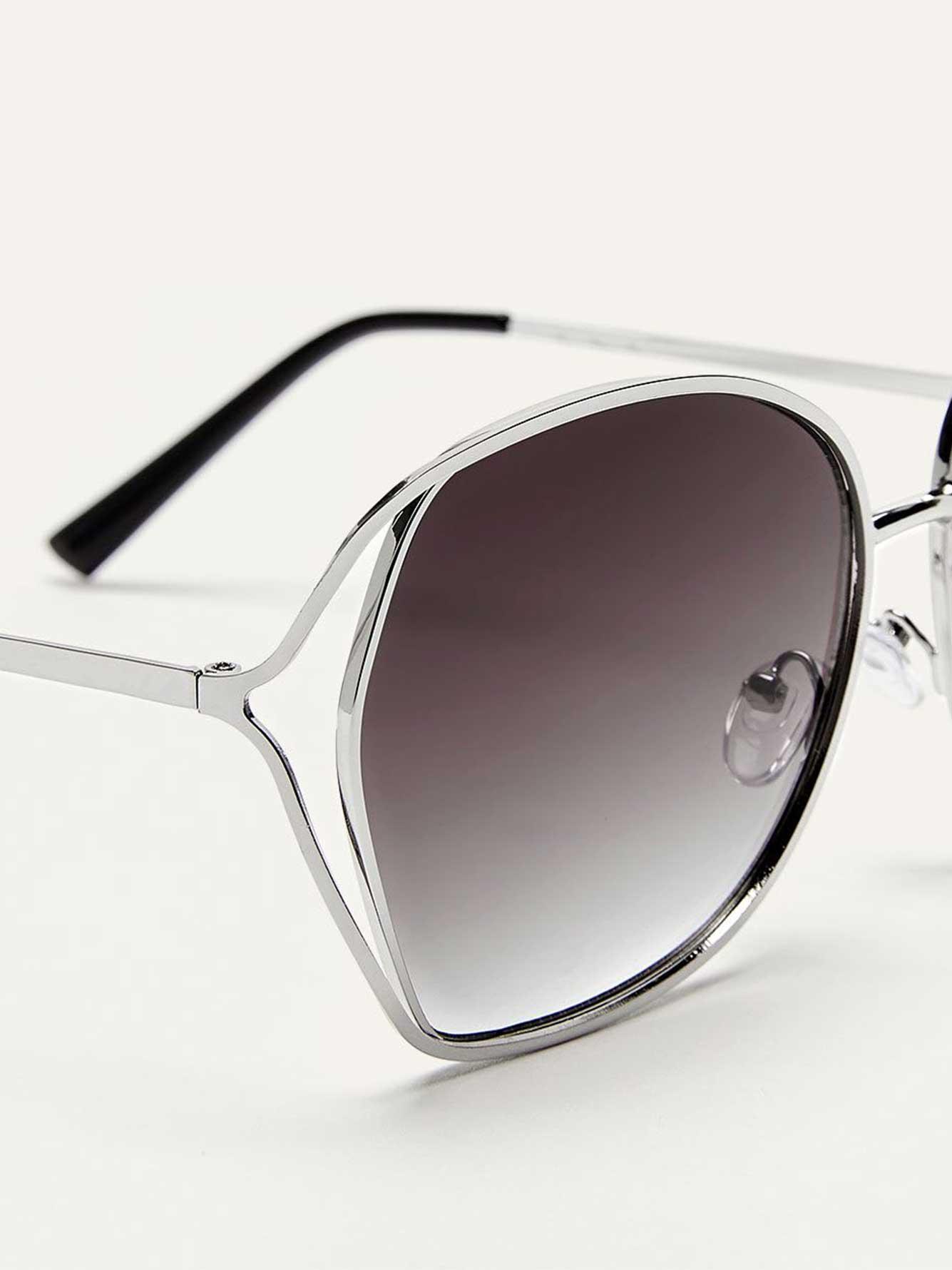 f6f03b671fb Metallic Sunglasses with Side Double Frame
