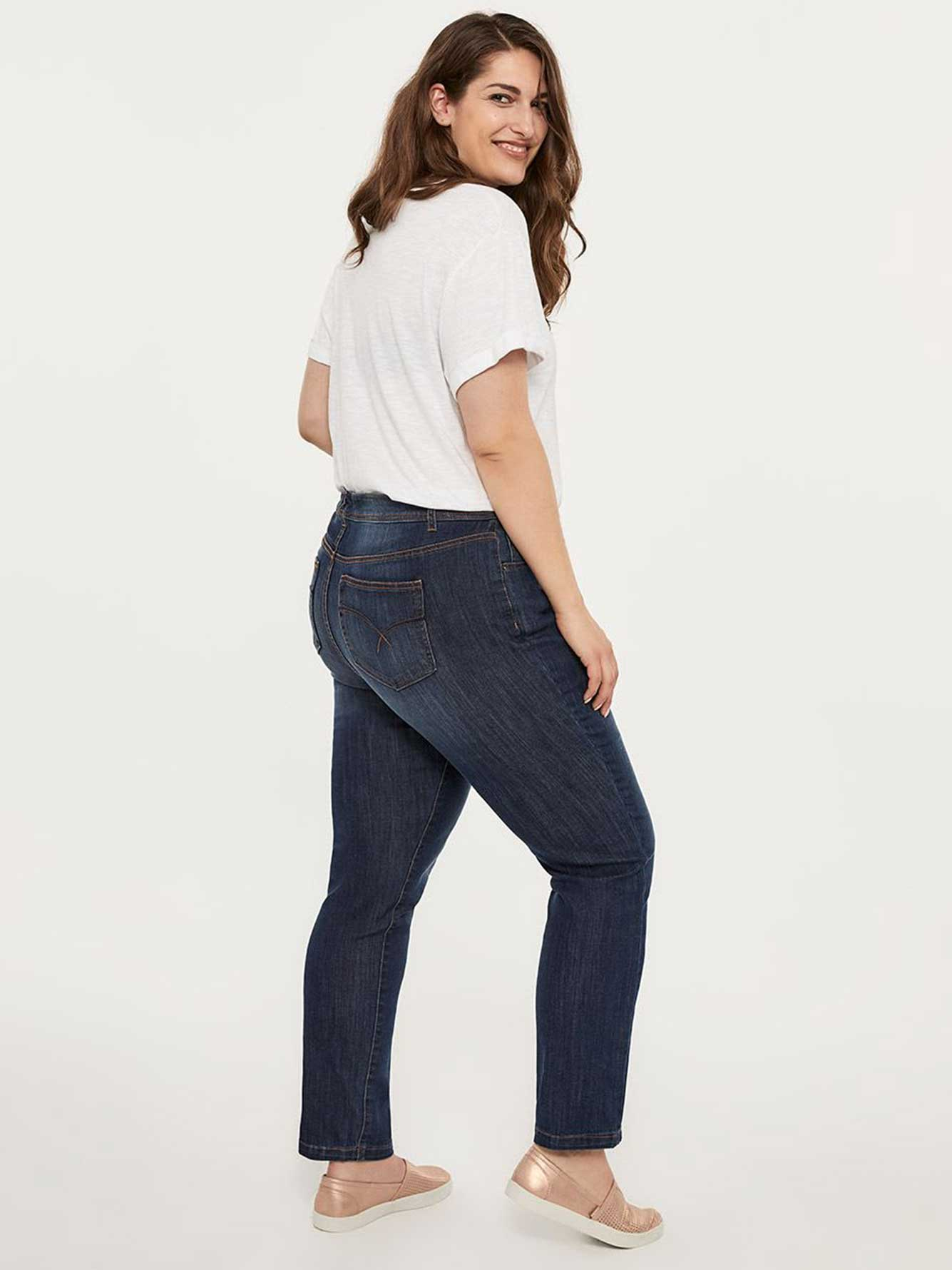 ONLINE ONLY - Tall Straight Fit Straight Leg Jean with Embroidery - d/C JEANS