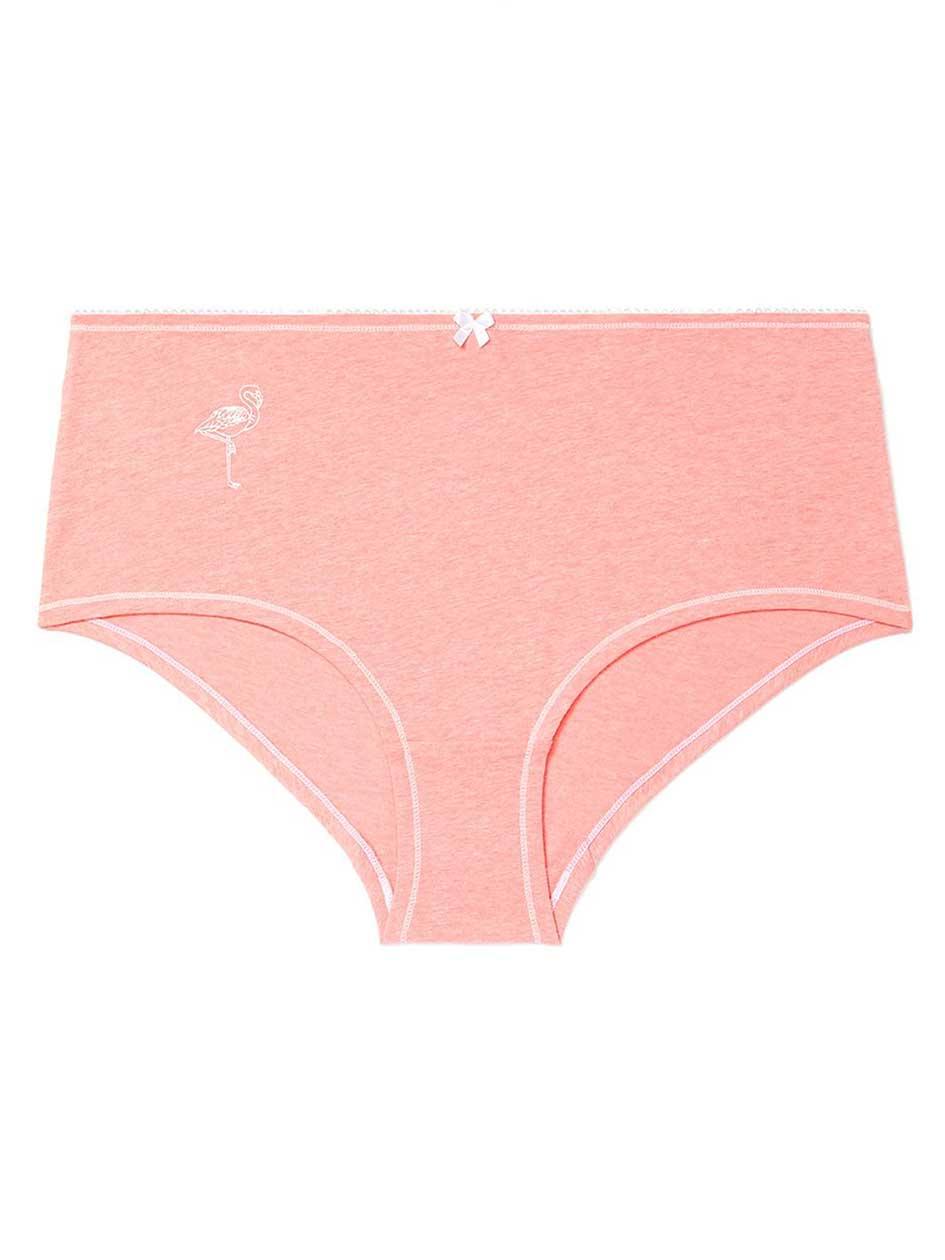 Boyshort Panty with Print - ti Voglio.Strawberry Pink.5X 30604488
