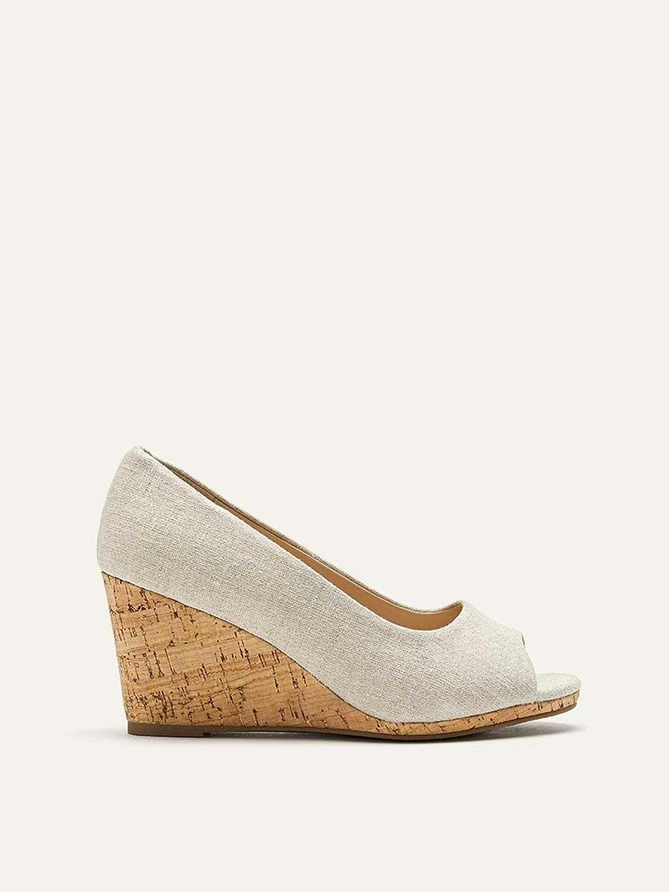 2b39b7aa8037fe Extra Wide Cork Wedge Peep Toe Shoes