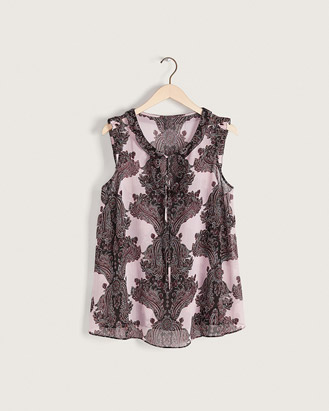 Sleeveless Georgette blouse