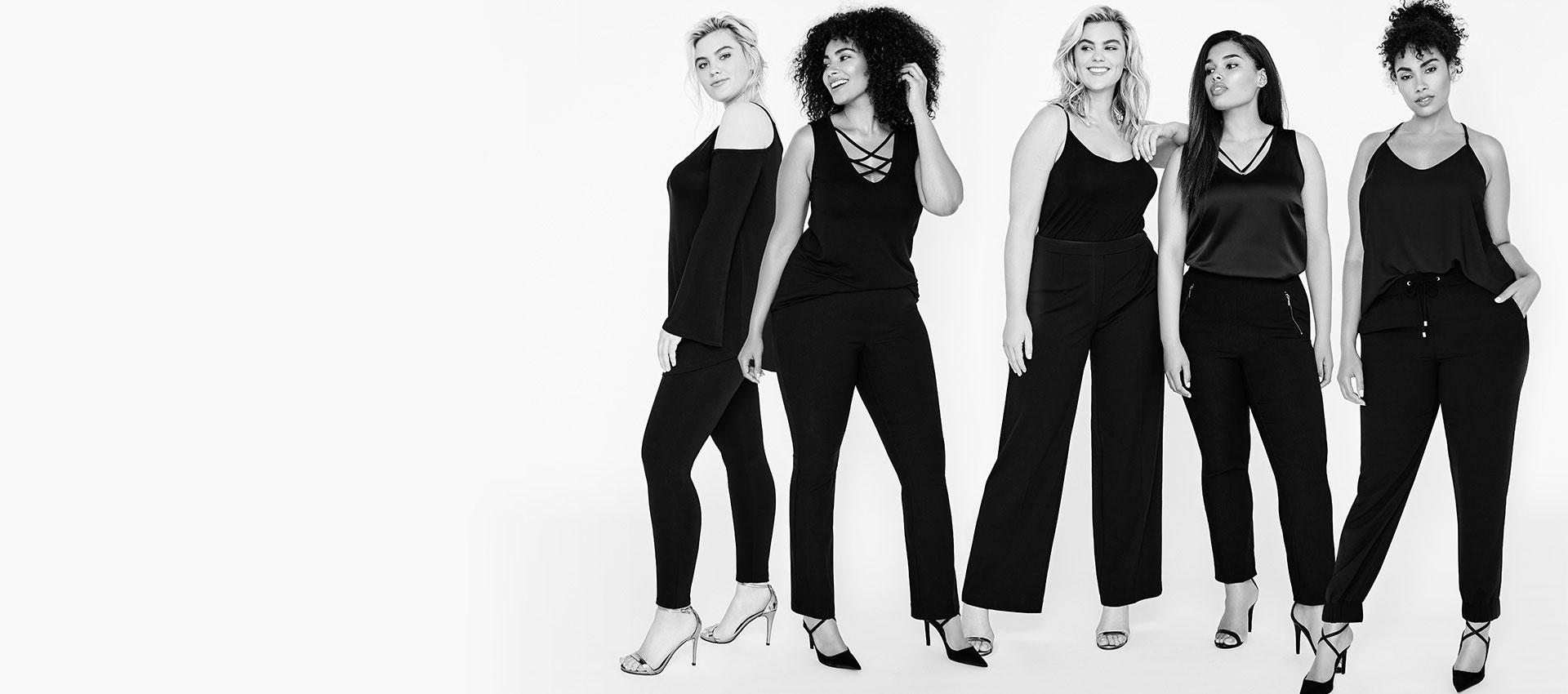 Five pants. Five fits.