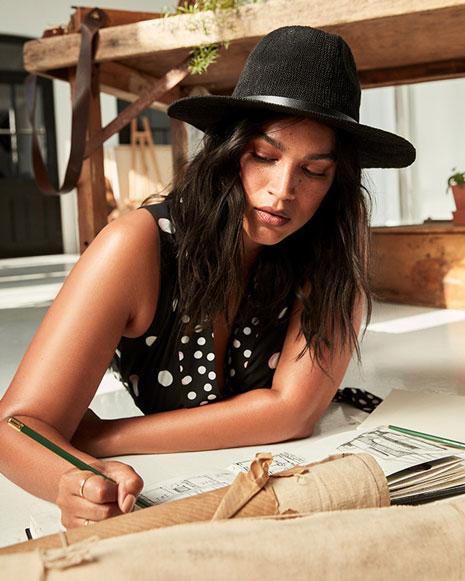 Chapeau noir Panama