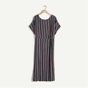 Striped dress with knot detail