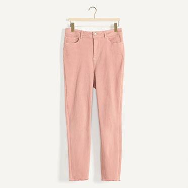 High waist blush skinny jean