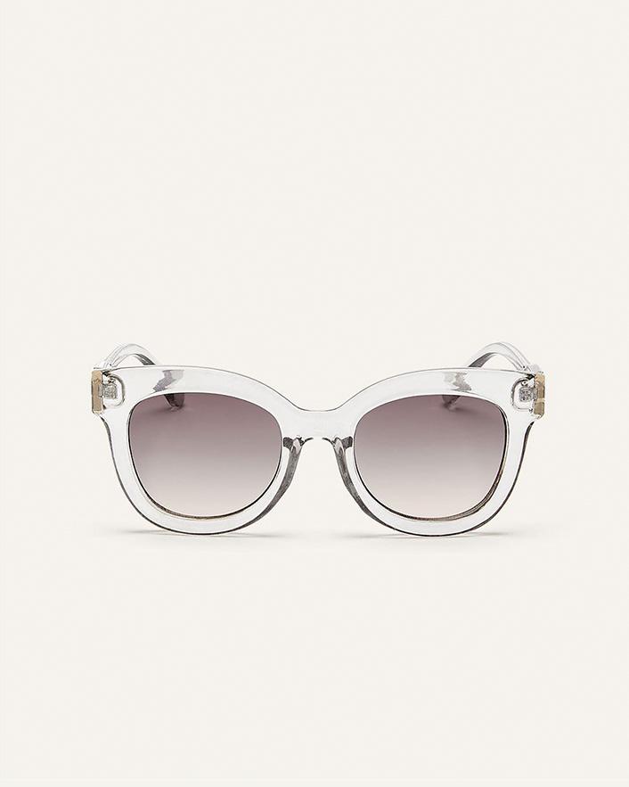 Oversized transparent sunglasses