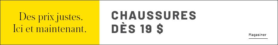 Chaussures dès 19 $