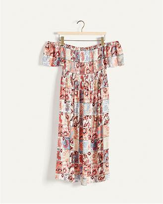 Bardot patchwork print dress