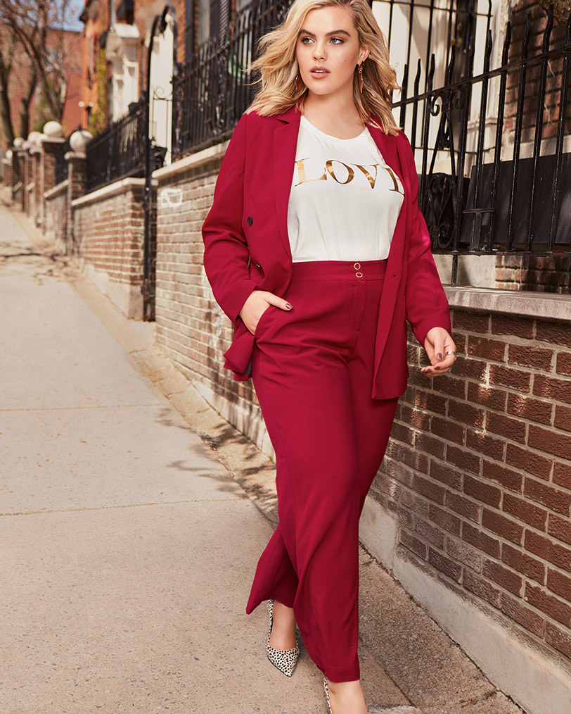 Red blazer and matching pant